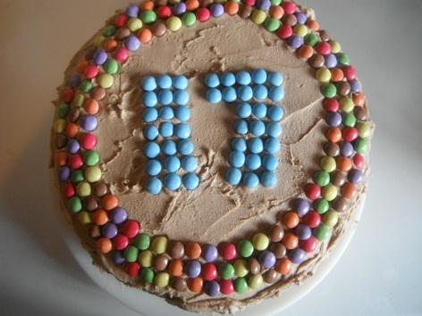 smarties-cake