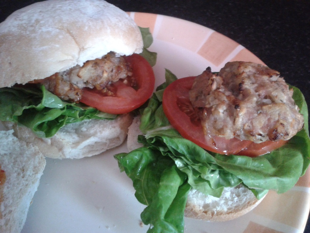 Pork, apple & sage burgers – Blue Sky Daze