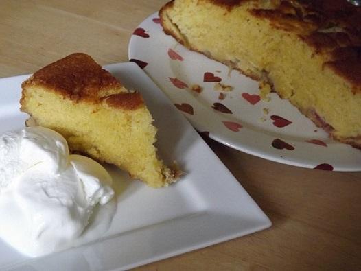 rhubarb-custard-cake