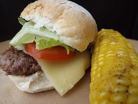 burger-with-corn-on-the-cob