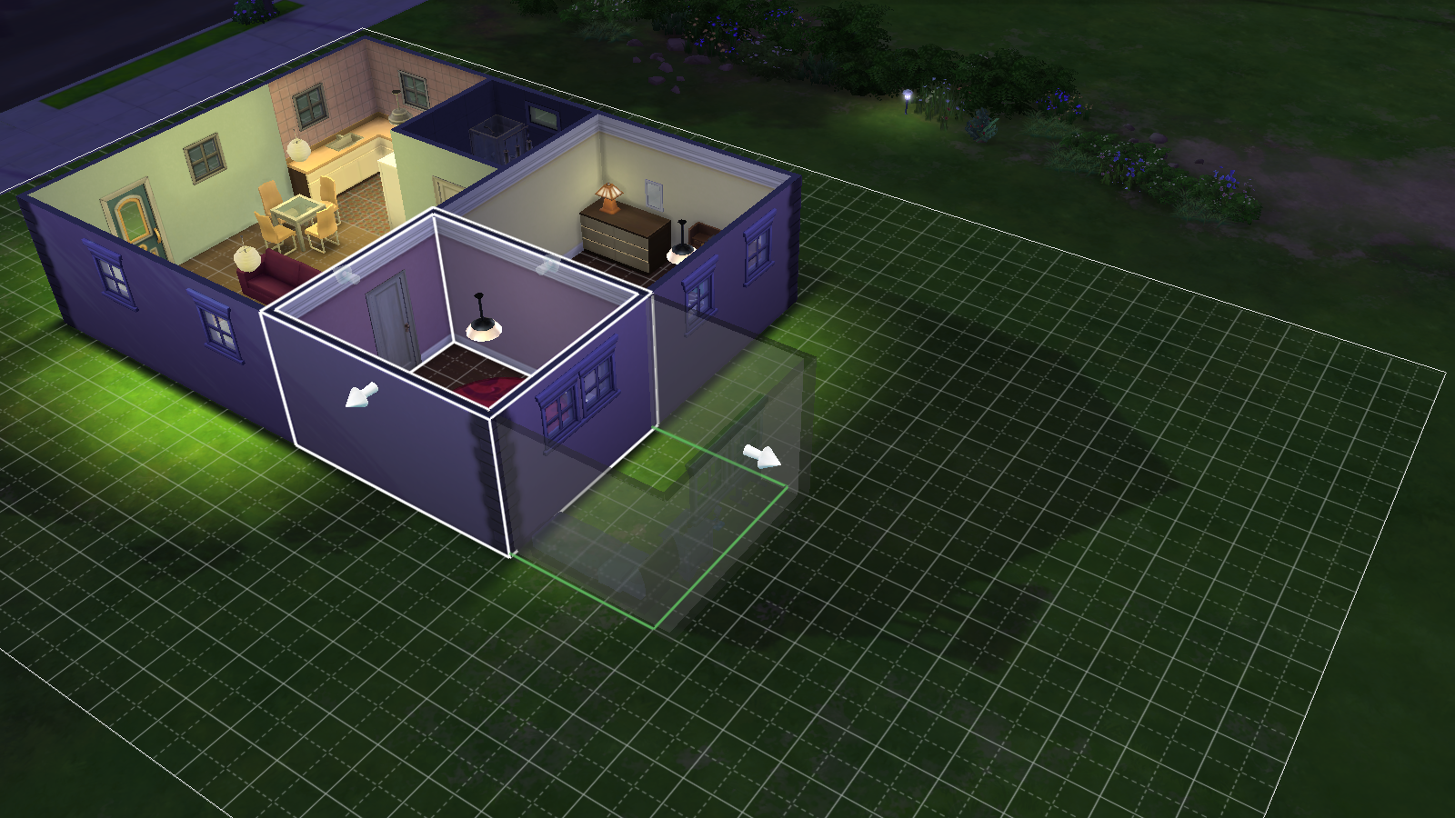 how to build inside stage sims 4