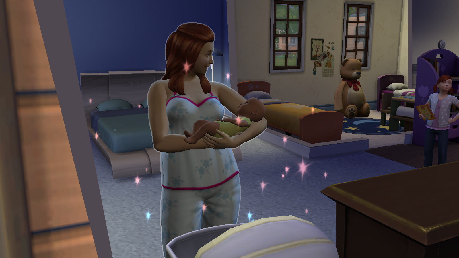 The First Two Trimesters Lasts Twentyfour Hours Each With The Bump Growing  Every Day! It Wouldn't Be Unusual For Your Sim To Be A Little Heavier After  She