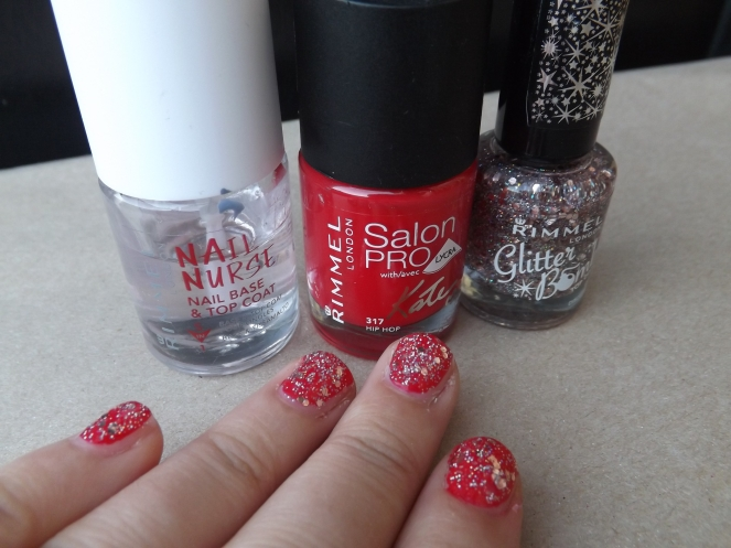 red-sparkle-nails
