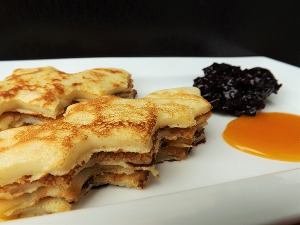 black-orange-pancakes
